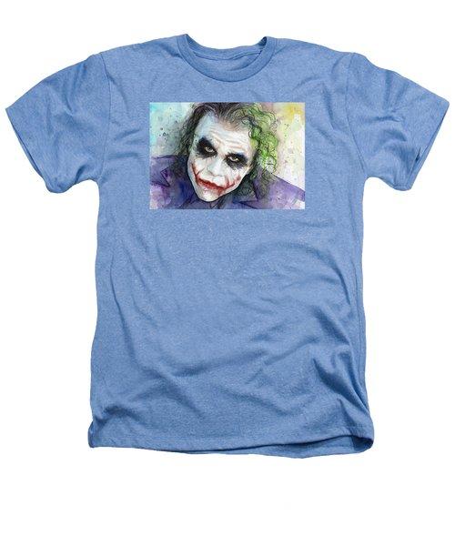 The Joker Watercolor Heathers T-Shirt by Olga Shvartsur