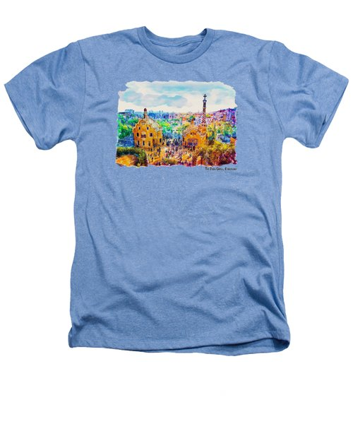 Park Guell Barcelona Heathers T-Shirt by Marian Voicu