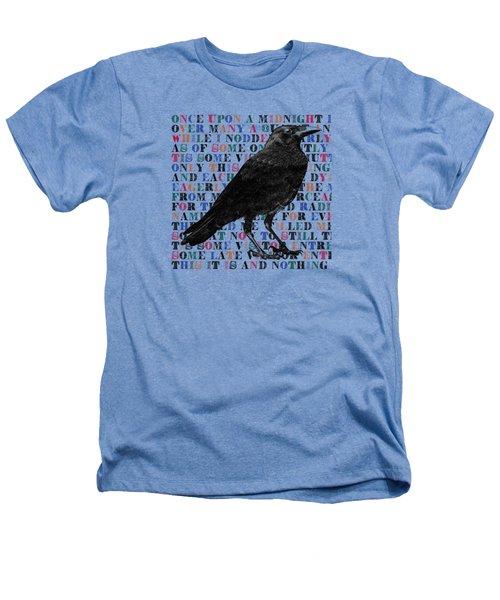 The Raven Poem Art Print Heathers T-Shirt by Sandra McGinley