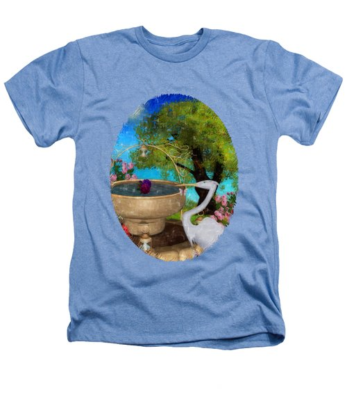 The Rose Path Egret Heathers T-Shirt by Sharon and Renee Lozen