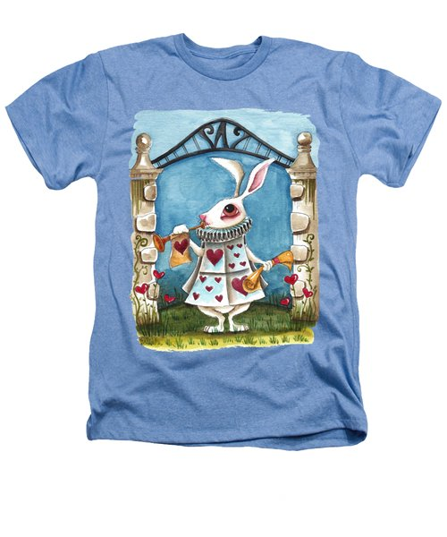 The White Rabbit Announcing Heathers T-Shirt by Lucia Stewart
