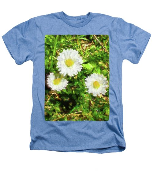Three Daisies In The Sun Heathers T-Shirt by Jackie VanO