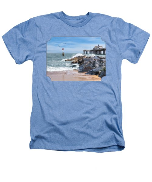 Tide's Turning - Southwold Pier Heathers T-Shirt by Gill Billington