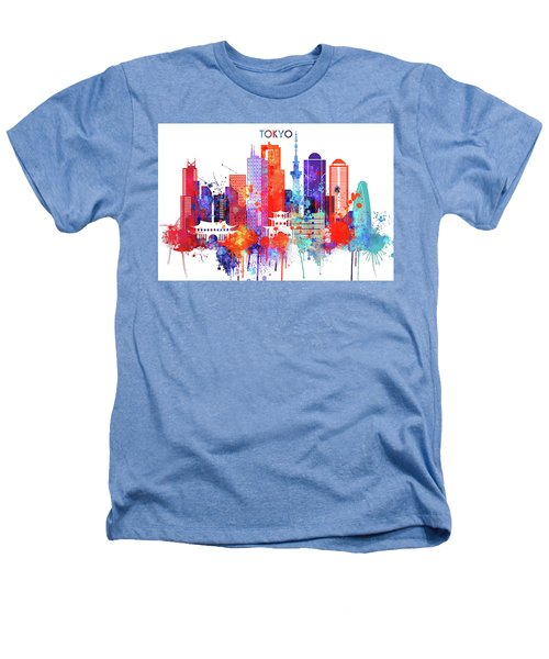 Tokyo Watercolor Heathers T-Shirt by Dim Dom