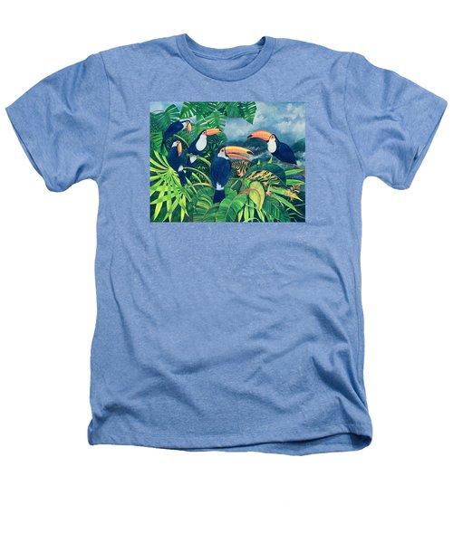 Toucan Talk Heathers T-Shirt by Lisa Graa Jensen