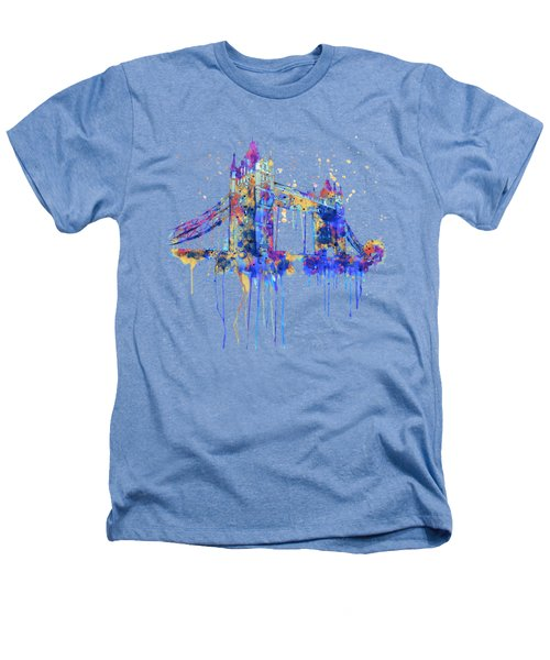 Tower Bridge Watercolor Heathers T-Shirt by Marian Voicu
