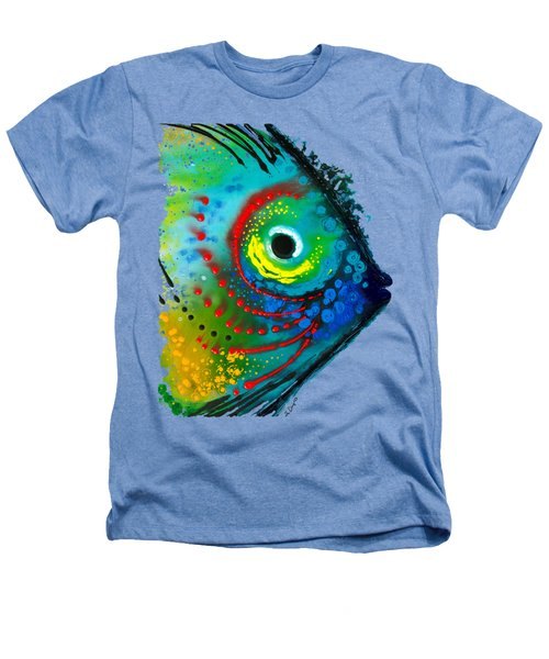 Tropical Fish - Art By Sharon Cummings Heathers T-Shirt by Sharon Cummings