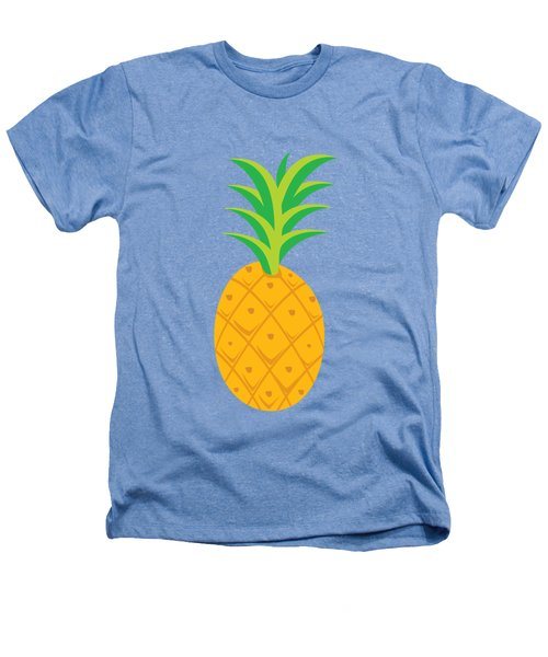 Tropical Fruits Ananas Pineapple Heathers T-Shirt by MGdezigns