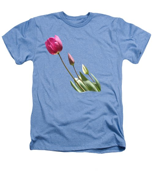 Tulips On Transparent Background Heathers T-Shirt by Terri Waters