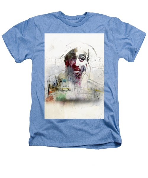 Tupac Graffitti 2656 Heathers T-Shirt by Jani Heinonen