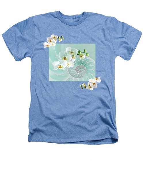 Turquoise Fusion Heathers T-Shirt by Gill Billington