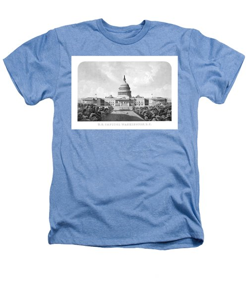 Us Capitol Building - Washington Dc Heathers T-Shirt by War Is Hell Store