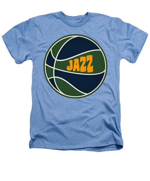 Utah Jazz Retro Shirt Heathers T-Shirt by Joe Hamilton