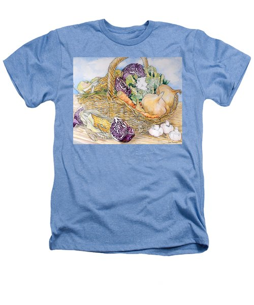Vegetables In A Basket Heathers T-Shirt by Joan Thewsey
