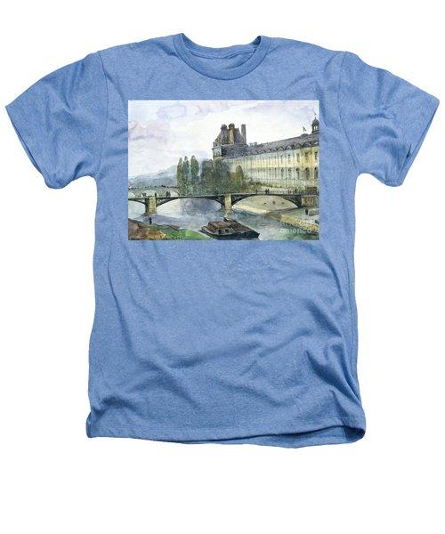 View Of The Pavillon De Flore Of The Louvre Heathers T-Shirt by Francois-Marius Granet