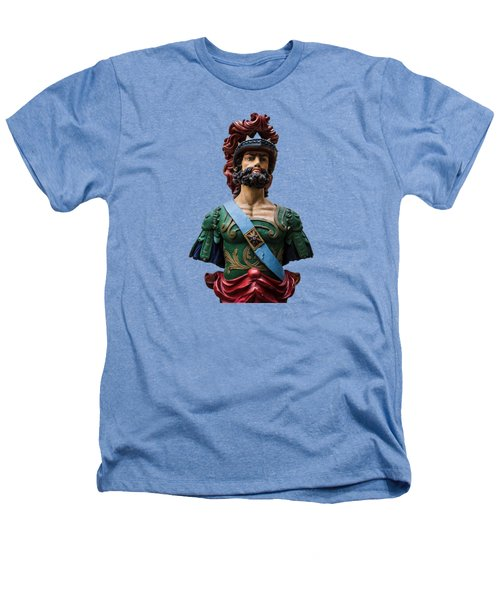 Vintage Ships Bust Heathers T-Shirt by Martin Newman
