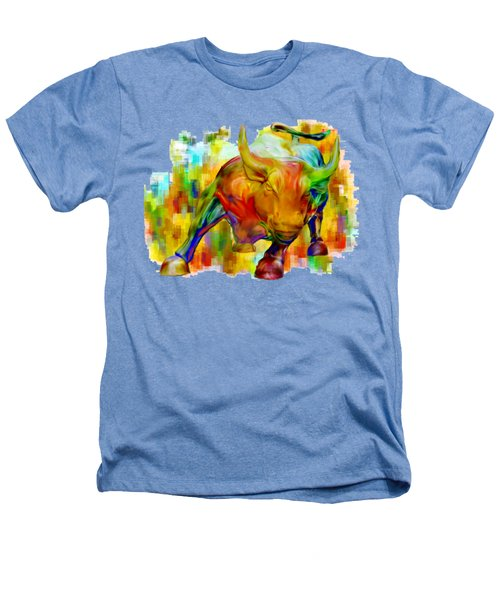 Wall Street Bull Heathers T-Shirt by Jack Zulli