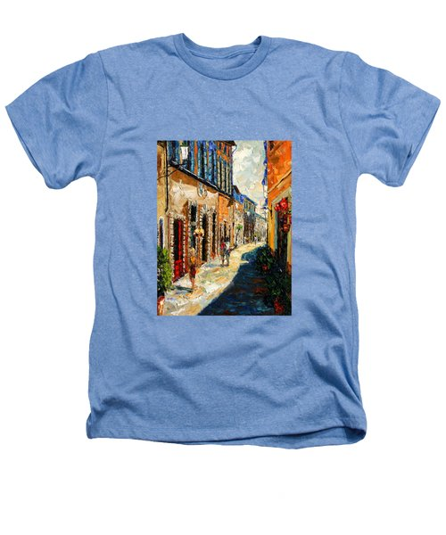 Warmth Of A Barcelona Street Heathers T-Shirt by Andre Dluhos