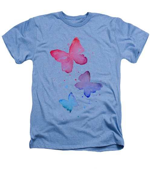Watercolor Butterflies Heathers T-Shirt by Olga Shvartsur