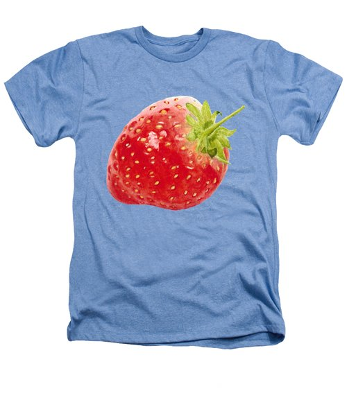Watercolor Strawberry Heathers T-Shirt by Kathleen Skinner