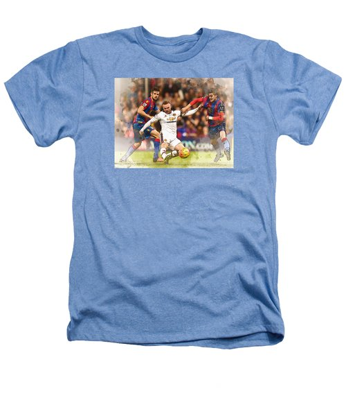 Wayne Rooney Shoots At Goal Heathers T-Shirt by Don Kuing