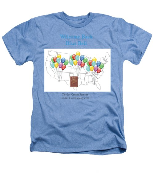 Welcome Back Blue Bell Heathers T-Shirt by Jacquie King