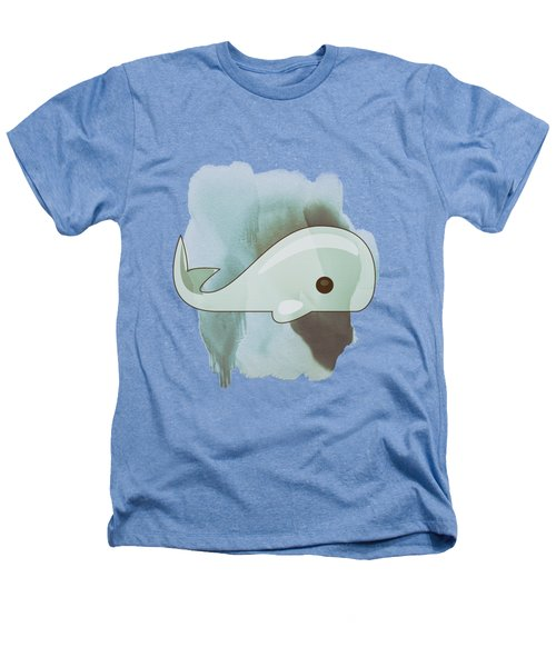 Whale Art - Bright Ocean Life Pastel Color Artwork Heathers T-Shirt by Wall Art Prints