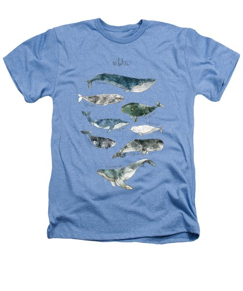 Whales Heathers T-Shirt by Amy Hamilton