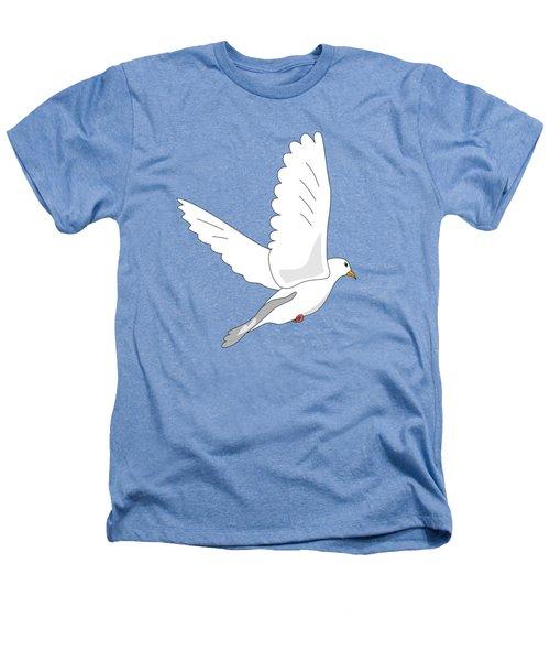 White Dove Heathers T-Shirt by Miroslav Nemecek