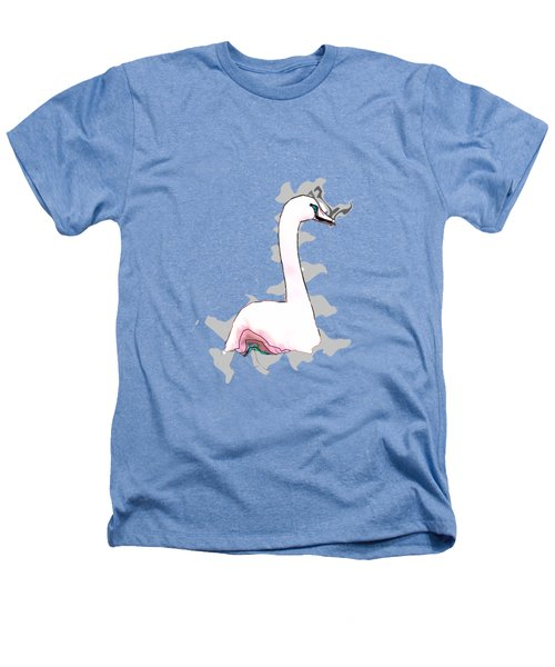 White Swan Swimming  Heathers T-Shirt by Humorous Quotes