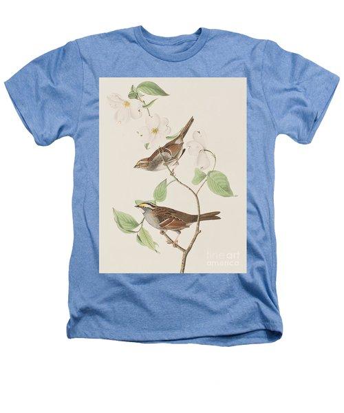 White Throated Sparrow Heathers T-Shirt by John James Audubon