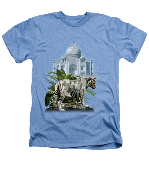 White Tiger And The Taj Mahal Image Of Beauty Heathers T-Shirt by Regina Femrite