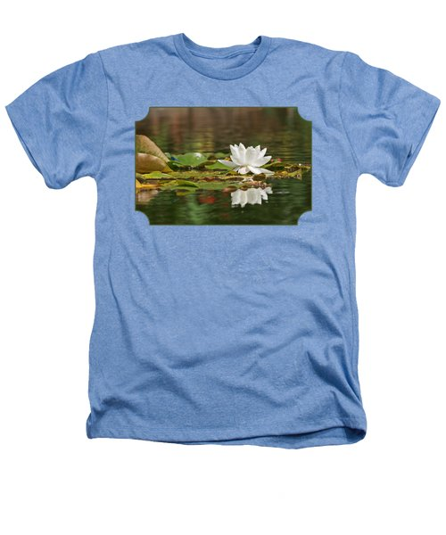 White Water Lily With Damselflies Heathers T-Shirt by Gill Billington