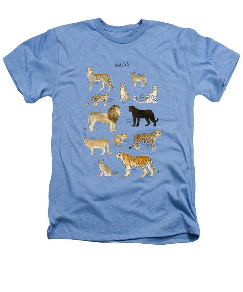 Wild Cats Heathers T-Shirt by Amy Hamilton
