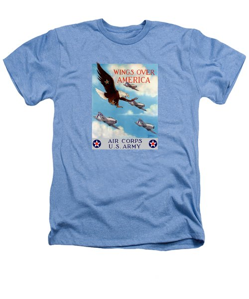 Wings Over America - Air Corps U.s. Army Heathers T-Shirt by War Is Hell Store