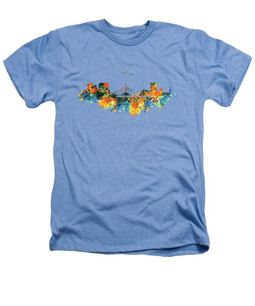 Winnipeg Skyline Heathers T-Shirt by Marian Voicu