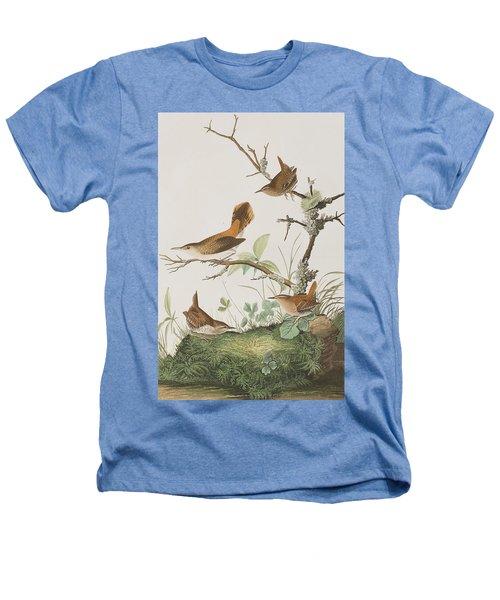 Winter Wren Or Rock Wren Heathers T-Shirt by John James Audubon