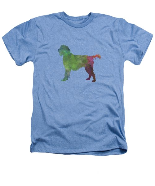 Wirehaired Pointing Griffon Korthals In Watercolor Heathers T-Shirt by Pablo Romero