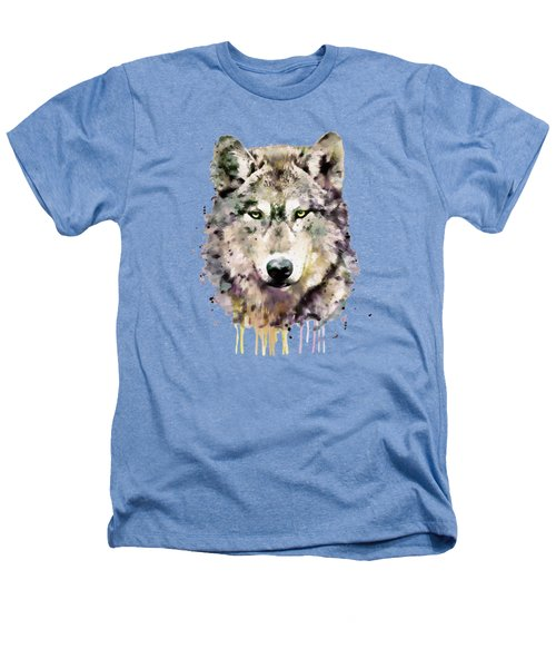 Wolf Head Heathers T-Shirt by Marian Voicu