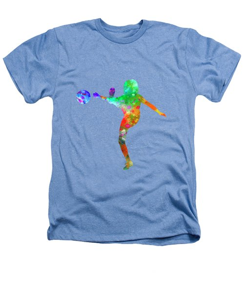 Woman Soccer Player 17 In Watercolor Heathers T-Shirt by Pablo Romero
