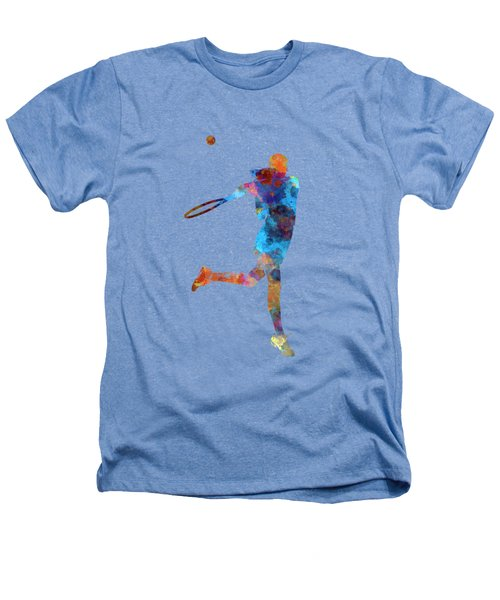 Woman Tennis Player 03 In Watercolor Heathers T-Shirt by Pablo Romero