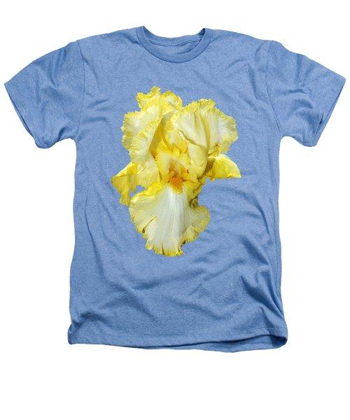 Yellow Mist Iris Heathers T-Shirt by Phyllis Denton