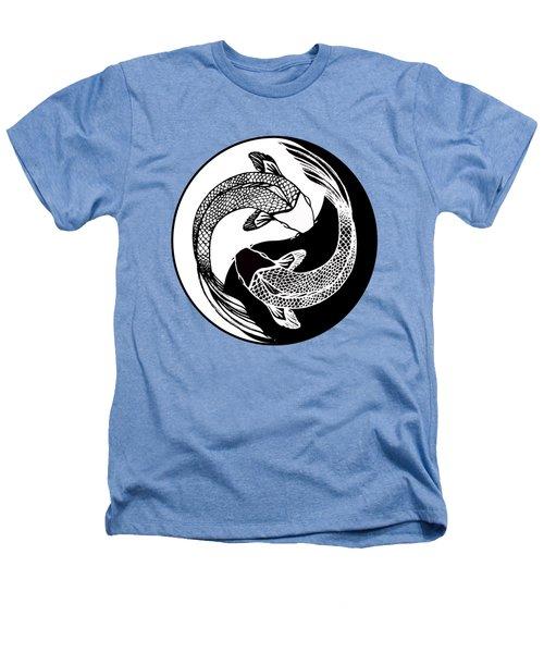 Yin Yang Fish Heathers T-Shirt by Stephen Humphries