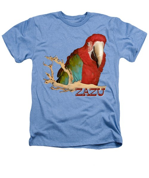 Zazu With Branch Heathers T-Shirt by Zazu's House Parrot Sanctuary