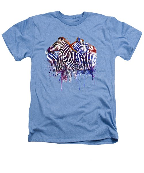 Zebras In Love Heathers T-Shirt by Marian Voicu