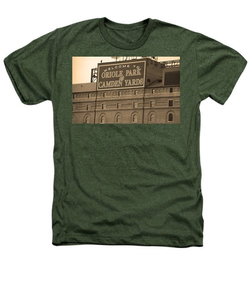 Baltimore Orioles Park At Camden Yards Heathers T-Shirt by Frank Romeo