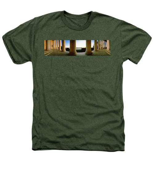 Jefferson Memorial Washington Dc Usa Heathers T-Shirt by Panoramic Images