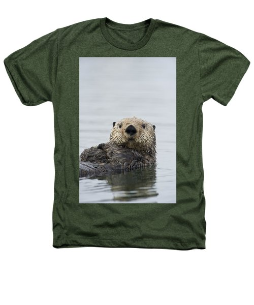 Sea Otter Alaska Heathers T-Shirt by Michael Quinton