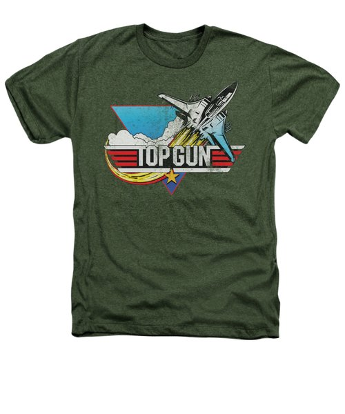 Top Gun - Distressed Logo Heathers T-Shirt by Brand A