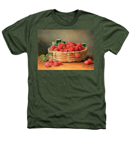 A Still Life Of Raspberries In A Wicker Basket  Heathers T-Shirt by William B Hough